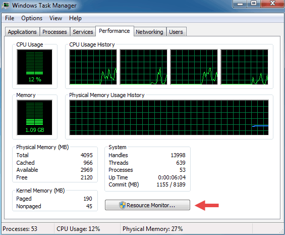 le windows task manager