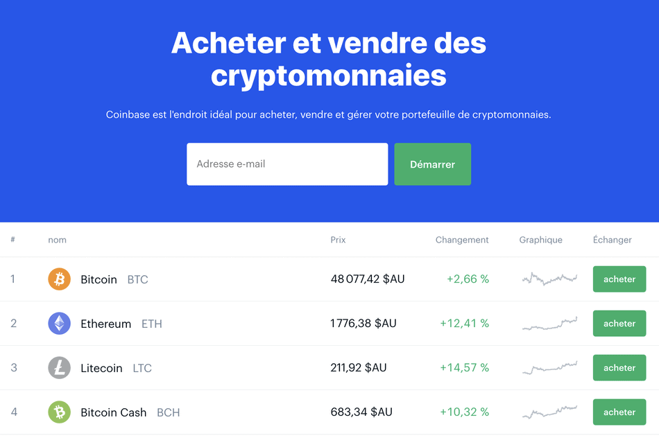 Site Coinbase Pour Achat De Bitcoin